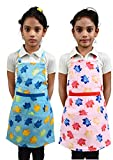 #4: Switchon Waterproof Kids Cotton Apron for Multi Purpose Cooking Painting and School Apron with Front Pocket Pack of 2 Apron