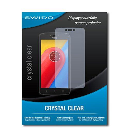 SWIDO Schutzfolie für Lenovo Moto C LTE [2 Stück] Kristall-Klar, Hoher Härtegrad, Schutz vor Öl, Staub & Kratzer/Glasfolie, Bildschirmschutz, Bildschirmschutzfolie, Panzerglas-Folie