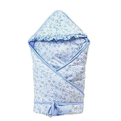 Emmala Saco De Dormir para Todas Casual Chic Las Estaciones del Bebé 2.5 TOG Recién Nacido Swaddle Saco De Dormir para Niños Otoño E Invierno Manta Más Gruesa Algodón Azul 90 * 90