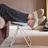 Tilting Leg Rest Stool Foot Rest Leg Support Stool Footstool Grey Footrest Foot Stool Under Desk Sofa Home Office Gaming Disabled Pedicure