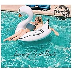 beachtoy flotador gigante hinchable cisne blanco 140x 120x 115cm, talla XXL–Lote de 2
