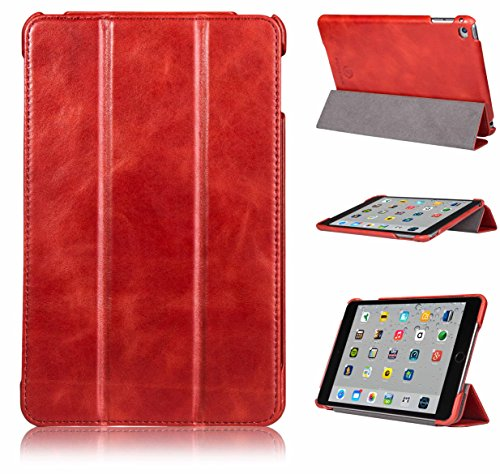 FUTLEX - Custodia smart per iPad Mini 4 in vera pelle e in stile vintage (Dj Station Karaoke)