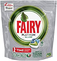 Fairy Platinum Caps per Lavastoviglie, Confezione da 70 Pezzi