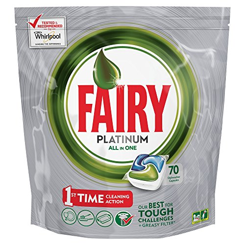 Price comparison product image Fairy Platinum Original Dishwasher Tablets - 70 Tablets