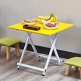 YY&L Multifunktionaler Tragbarer Faltender Snack-Tisch - Innenim Freien Picknick-Partei, Die Kampierenden Tisch - Holzplatte-Quadrat-Garten-Tabelle - Purpur / 60 * 60Cm Kocht,Yellow