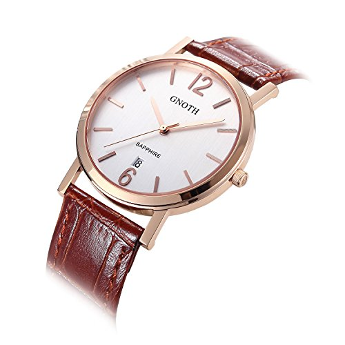 gnoth-unisex-rose-gold-minimalist-leather-watch-ultra-thin-with-sapphire-date-numbers