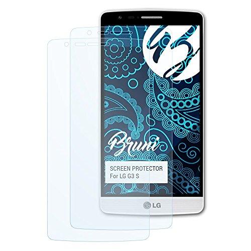 Bruni Schutzfolie für LG G3 S Folie, glasklare Bildschirmschutzfolie (2X)