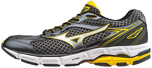 Mizuno Wave Connect 3 Herren Laufschuhe Grau (DarkShadow/Silver/CyberYellow)