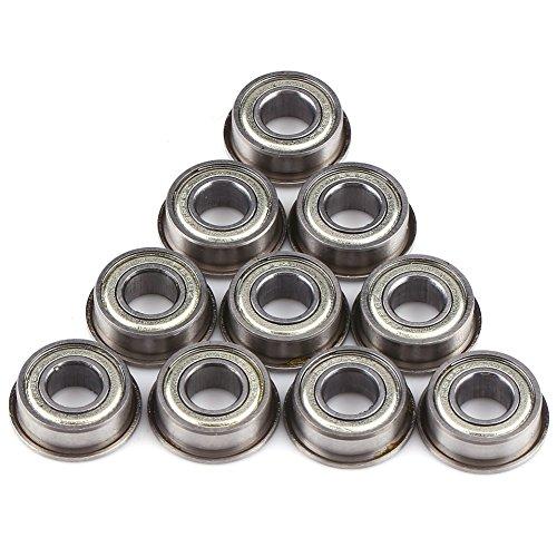 Akozon Kugellager, 10 stücke Flanschen Radialkugellager Miniaturlager Metall Stahl F686ZZ Mini Metall Stahl Doppel Abgeschirmte Flansch Kugellager 6 * 13 * 5mm für Elektromotor, 3D-Drucker, Quadrocop