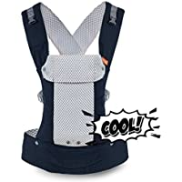 Beco Baby Carrier Gemini Performance Baby Carrier By Beco - Multi-Position Soft Structured Sling W/ Adjustable Straps & Comfort Padding For Infant/Toddler Hip Support - Cool Mesh In Navy