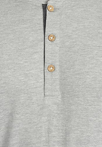 INDICODE Tony Herren T-Shirt Kurzarmshirt Grandad Light Grey Mix