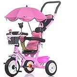 Kinder Dreirad Fahrrad 1-5 Jahre Trolley Infant Baby Babytrage Kind Baby Fahrrad (Farbe : Pink)