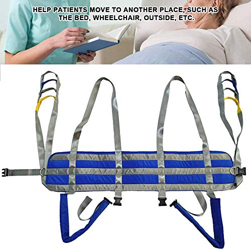 51Ar9gMJ7ML - ZIHAOH Cabestrillo De Elevación De Paciente De Cuerpo Completo, Cinturón De Transferencia Médica De Elevación para Personas Mayores Discapacitados, Cinturón para Caminar Asistido por El Paciente