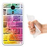 UMi Plus Hülle, WoowCase Handyhülle Silikon für [ UMi Plus ] Ziegelsteinmauer 2 Handytasche Handy Cover Case Schutzhülle Flexible TPU - Transparent