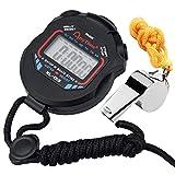 Zaleonline Digitale Sport Stopwatch Timer met Datumklok Extra Grote Display met Jumbo Nummers Fluitje voor Marathon Voetbal Basketbal Running Zwemmen Fitness