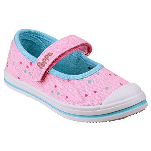 Cortina PP000533 Peppa Pig - Chaussures en toile - Fille Blanc/Rose/Bleu