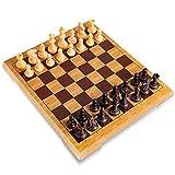 Tablero de juego internacional de viaje estándar, pequeño juego de ajedrez pequeño, con piezas magnéticas hechas a mano Bolsas de almacenamiento Juguetes educativos educativos para niños y adultos