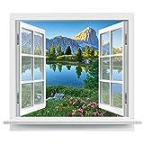 Premiumdesign Wandtattoo offenes Fenster italienische