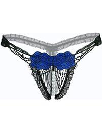 e2e7159c8c Amazon.es  Lenceria sexy - Azul   Tangas   Braguitas y culottes  Ropa