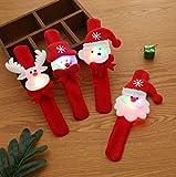 M MORCART Schnapparmband Kinder, Weihnachten Armband Weihnachtsmann Rentier Schneemann Lächelnder Bär 3 Beleuchtungsmodi Manuelle Steuerung EIN- und Ausschalten (Licht)
