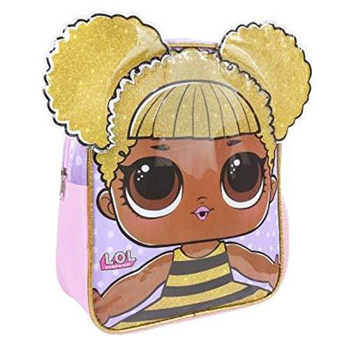 L.o.l. surprise ! zaino per bambina con personaggi 3d | prodotto ufficial accessori bimba bambole lol confetti pop | zainetto per bambini asilo scuola | idea regalo ragazza di tutte le età (queen bee)
