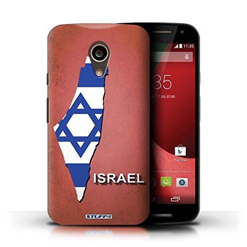 Kobalt® Imprimé Etui / Coque pour Motorola Moto G (2014) / Chine/Chinois conception / Série Drapeau Pays Israël/Israélien