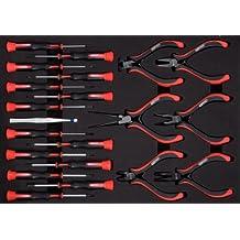 KS Tools 500.7190 - Pack de 21 piezas con herramientas para mecánica de precisión (tamaño: 40 x 282 x 390 mm)