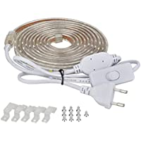 elander strisce LED luce bianca calda con interruttore [5050, 300cm] 230V Plug & Play, IP67