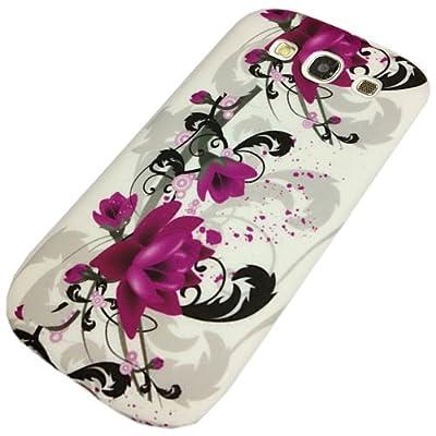 "Slabo Silikon Schutzhülle Hülle Case TPU für Samsung Galaxy S3 I9300 - ""Blumen Schmetterling Herzen | Flower Butterfly Heart"" - LILA WHITE|ROSA WEIß von Slabo - Lampenhans.de"