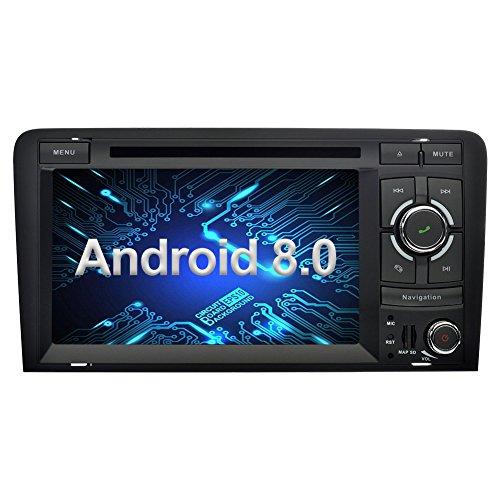 Ohok 7 Pollici Android 8.0.0 Oreo Octa Core 4G+32G 2 Din In Dash Autoradio Schermo di Tocco Lettore DVD Navigatore GPS Con Bluetooth Per Audi A3 2003-2013