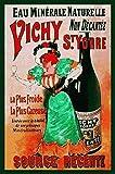 Vichy Mineralwasser Targa di Latta Poster Metallo Segno Curvato Targhe Metallo 20x 30 CM