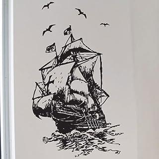 amazing sticker Sea Schiff Kinder Art Wandsticker/Wandtattoo/Wand Transfers/Wandtattoo, S
