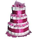 Tarta de pañales Dodot - Cuki rosa - Mil Cestas