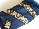 Sojoco Hunde Popeline Regenmantel für große Hunde, mit Schlag-Gold-Emblemen, Rückenlänge: ca. 53 cm, Größe: XL