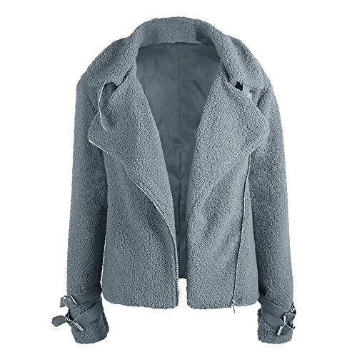 SXZG Herbst und Winter Lokomotive Composite Fell eine kleine Teddy Fell Jacke Damen Plüschjacke