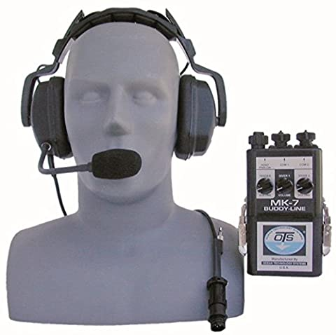 OTS MK7 Buddy-Line Portable Two Diver Air Intercom (4 wire only) (comes w/THB-7A headset with boom mic)