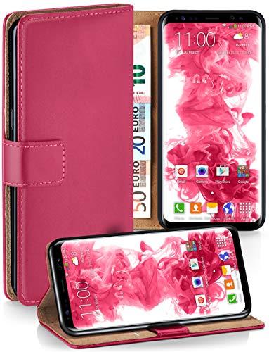 MoEx® Booklet mit Flip Funktion [360 Grad Voll-Schutz] für Samsung Galaxy S8 | Geldfach und Kartenfach + Stand-Funktion und Magnet-Verschluss, Pink