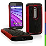 iGadgitz U3994 Funda para teléfono móvil 12,7 cm (5') Negro, Rojo - Fundas para teléfonos móviles (Funda, Motorola, Moto G (3rd Gen), 12,7 cm (5'), Negro, Rojo)