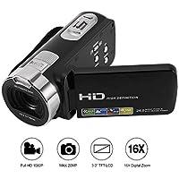 Caméscope Numerique Haute Definition Full hd , Footprintse FULL HD 1920*1080P, Caméscope Caméra Vidéo Numérique DV Max 24.0 Megapixels, 3.0 Pouces TFT-LCD (Supports 270°Rotation) Avec Zoom