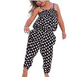 Bekleidung Longra Kleinkind Baby Kinder Mädchen Sommer Gurt Dot Muster Strampler Overall Rompers Jumpsuits Harem Hosen Sommer Kleidung Outfits(1-7Jahre) (140CM 6-7Jahre, Black)