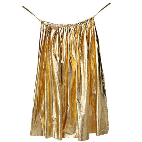 MagiDeal Damen Herren Halloween Umhang Karneval Fasching Kostüm Cape - Gold
