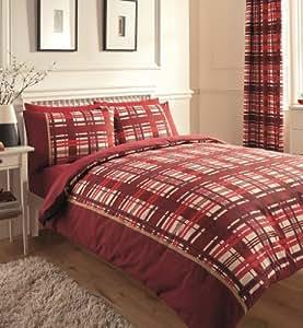 Imprimé Chevron Parure de lit avec housse de couette et taie d'oreiller Parure de lit Bordeaux–Taille King Size
