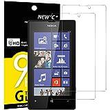 Pack de 2 Verre Trempé Nokia Microsoft Lumia 520, NEWC Film Protection en Verre trempé écran Protecteur vitre ANTI RAYURES SANS BULLES D'AIR Résistant Dureté 9H pour Nokia Microsoft Lumia 520