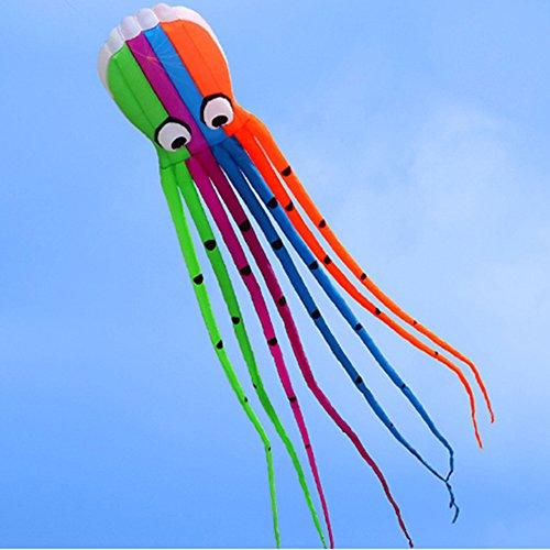 Preisvergleich Produktbild Docooler 8M Krake Kite/Einleiner/Kite Spielzeug Im Freien, Material: 190T Polyester