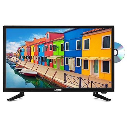MEDION P12310 54,6 cm (21,5 Zoll Full HD) Fernseher (Triple Tuner, DVB-T2 HD, DVD-Player, Mediaplayer, HDMI, CI+, USB)