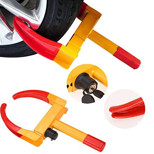 Homdox Bloqueo de Rueda Remolque para Coche, Bloqueo de Neumáticos, Heavy Duty Anti-Theft, Mejor Antirrobo Alta Seguridad
