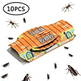 Womdee Cockroach Trap, Indoor Cockroach Trap with Bait, Glue Trap, Non-Toxic, Eco-Friendly