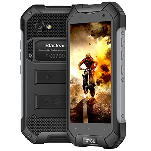 "Blackview BV6000S Outdoor Smartphone, IP68 Impermeabile Rugged Smartphone con Batteria 4500mAh-4,7""HD IPS-8.0MP e 2.0MP Fotocamera-Dual SIM-4G-2GB RAM e 16GB ROM/Compass/GPS/NFC/OTG/Unlocked-Nero"