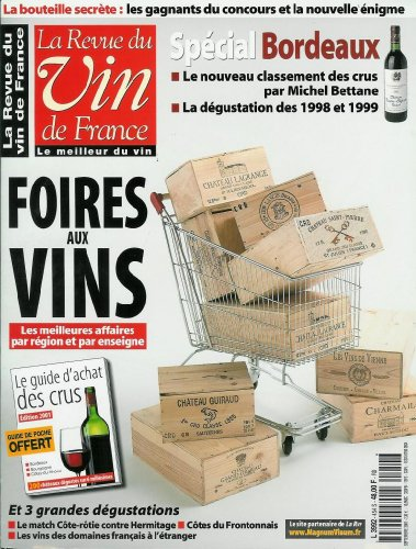 La Revue du vin de France - n°454 - 01/09/2001 - Foires aux vins