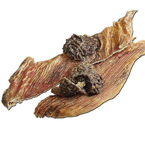 DOGREFORM Straußen Magen 150g Fettarm Dörrfleisch Kauknochen für den empfindlichen Hund ohne jedliche Chemie cholesterinarm leicht verdaulich und bekömmlich